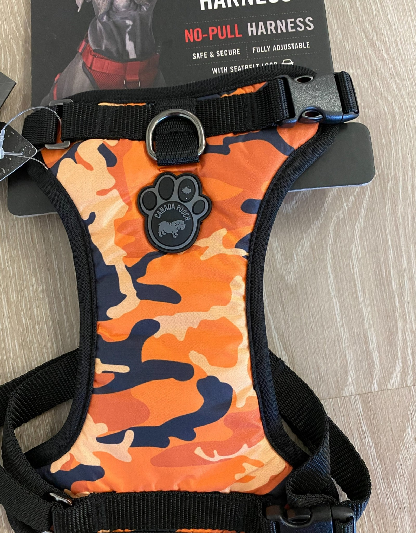 Canada Pooch Harness Orange Camo