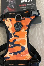Canada Pooch Harness Orange Camo Medium