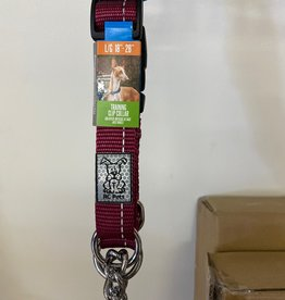 RC Pets Rc Pets Collars - Large Clip Burgandy Martingale