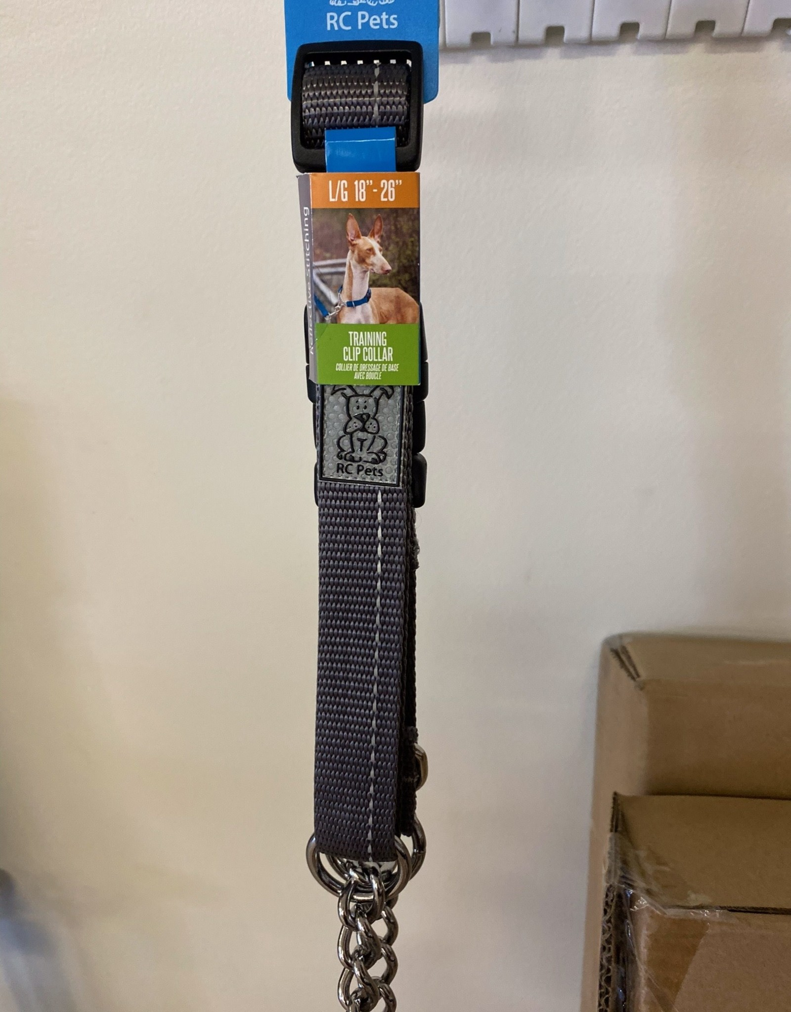 RC Pets Rc Pets Collars - Large Training Clip Charcoal