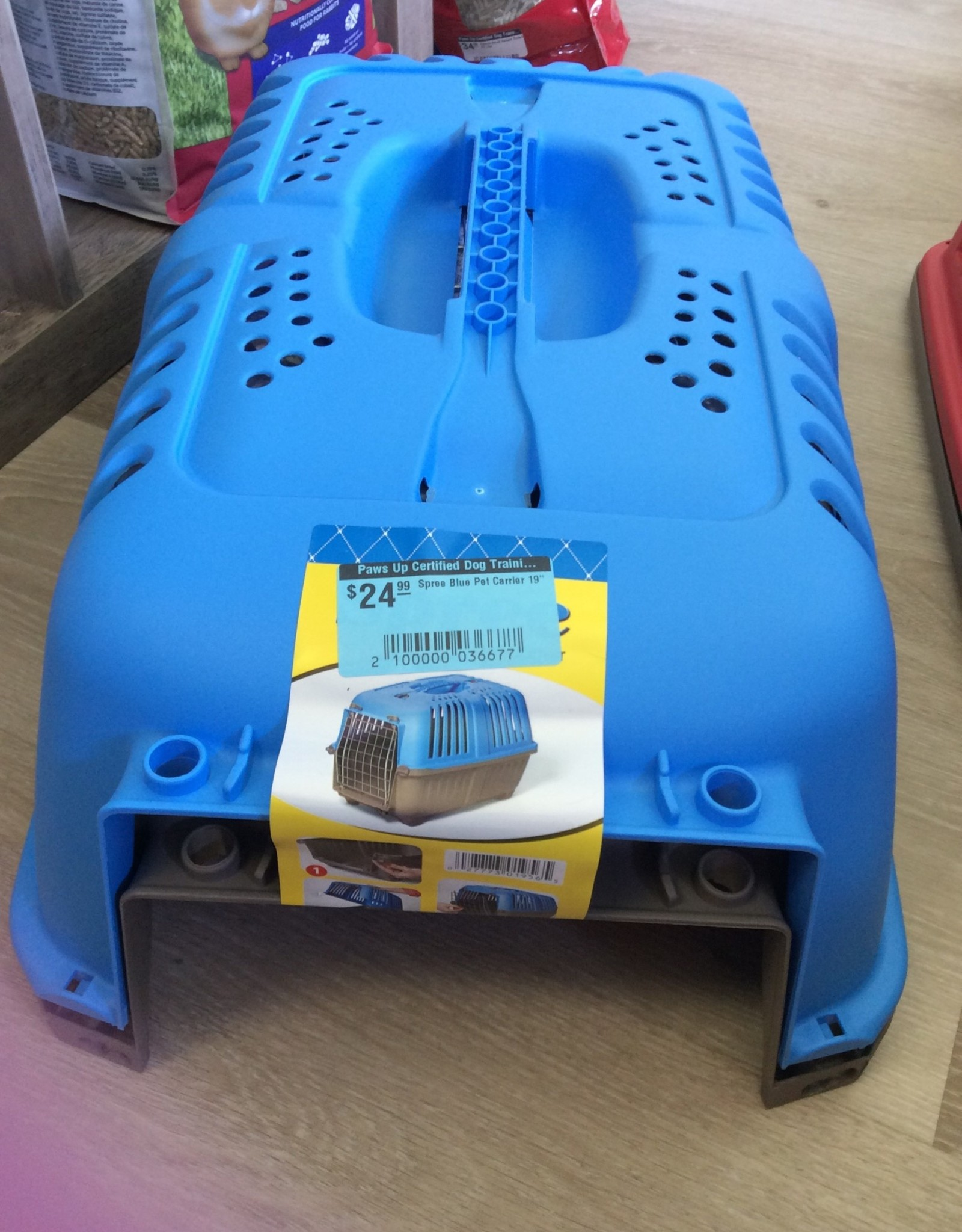 "Spree Spree Blue Pet Carrier 19"""