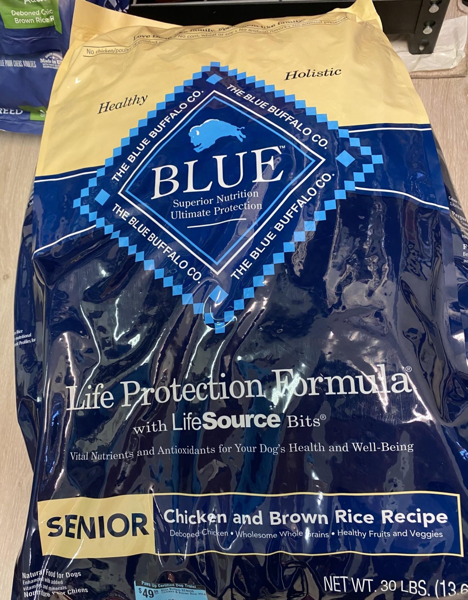 Blue Buffalo SENIOR Chicken & Brown Rice 30LB