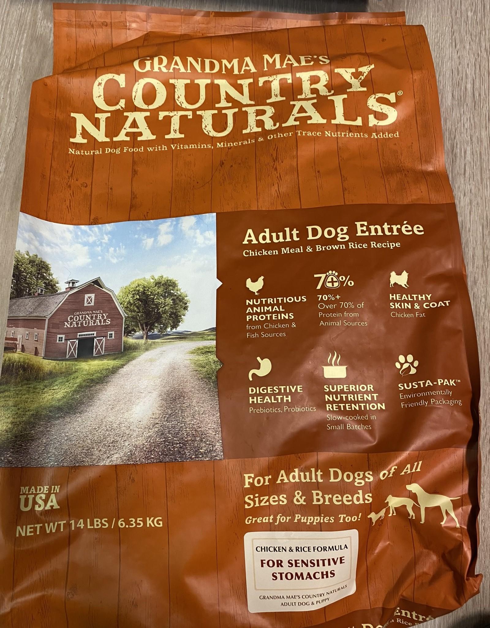 Grandma Maes Adult Dog Entree Sensitive Dog Food 14 lbs