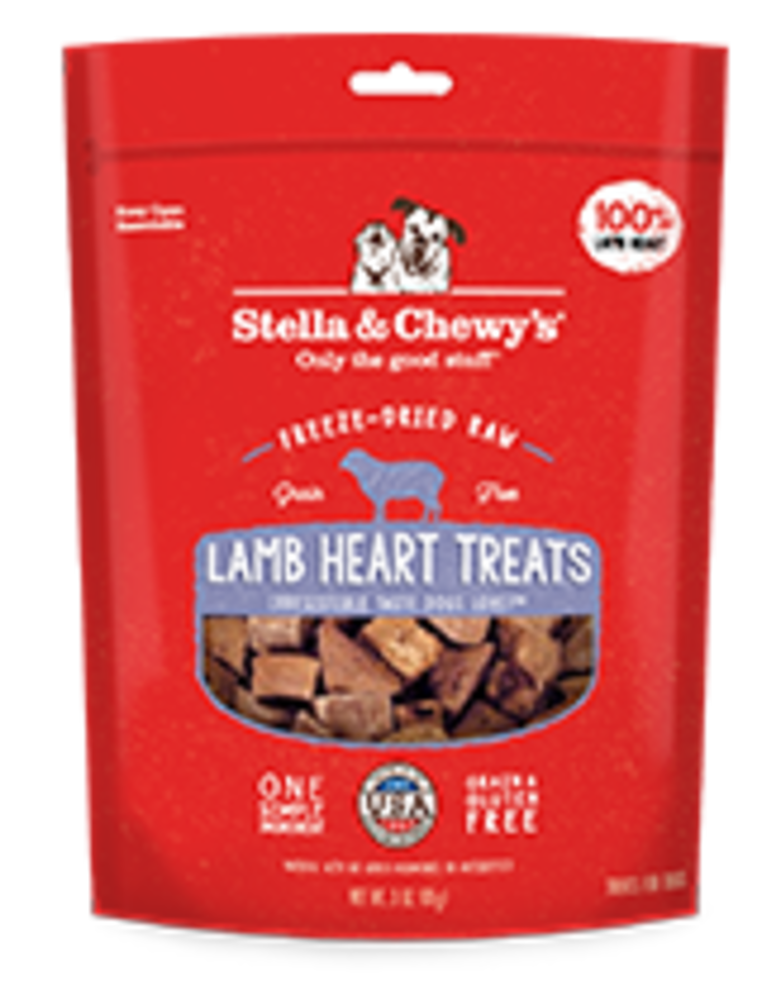 Stella & Chewys Freeze Dried Lamb Heart 3oz