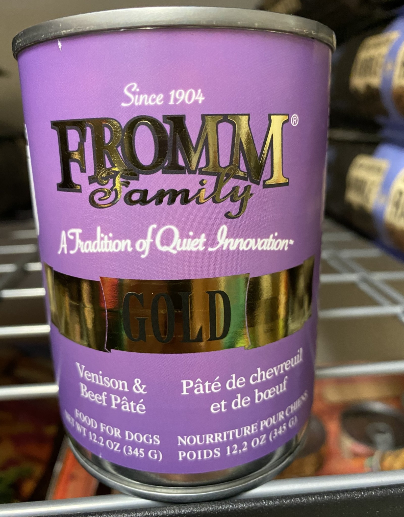 Fromm Gold  Venison & Beef Pate Can