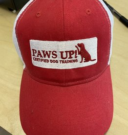 Paws Up White & Red Hat