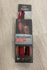 NiteIze NiteIze Nite Dawg LED Red 5' Dog Leash