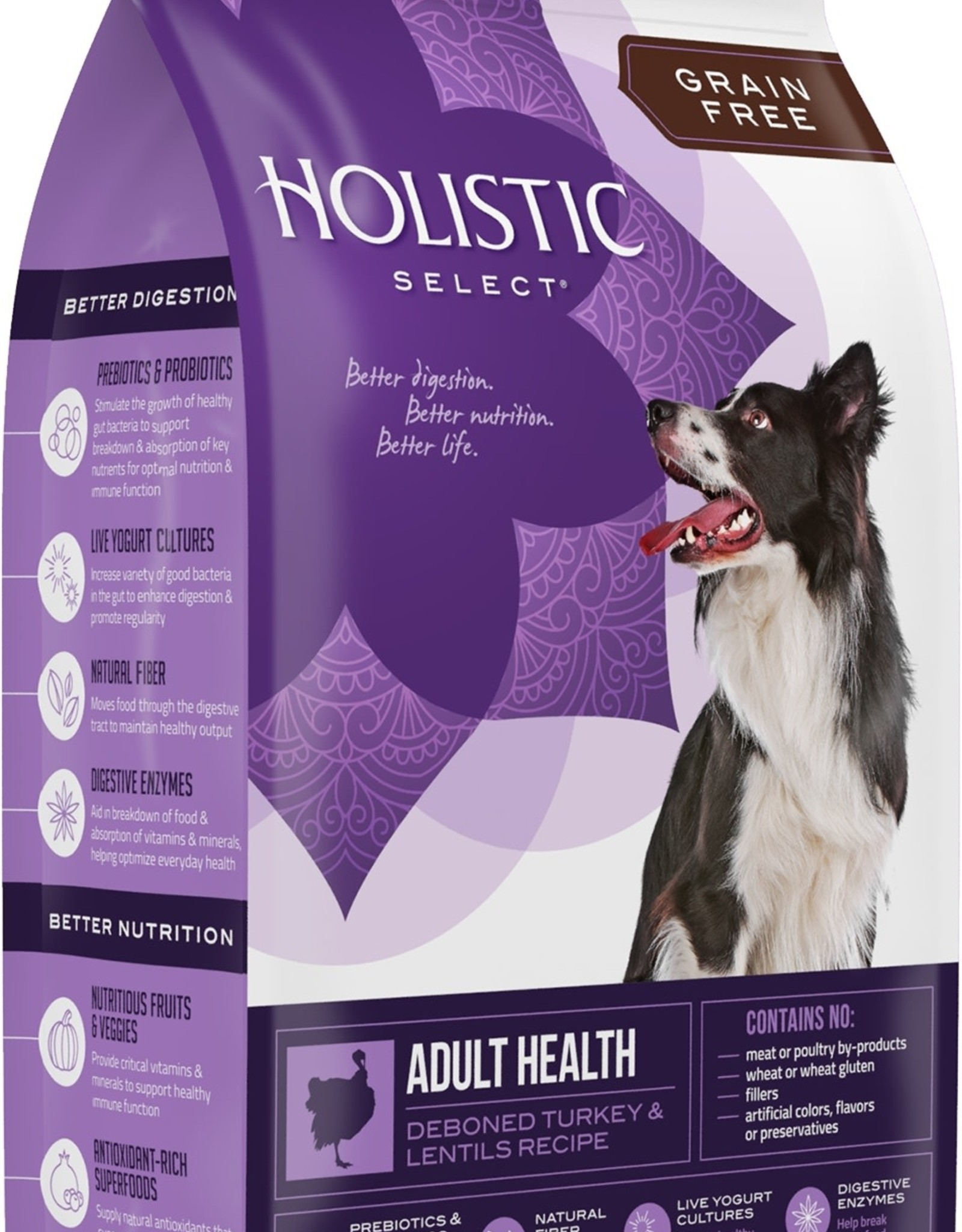 Holistic Select Dog Food 12lb Grain Free Deboned Turkey