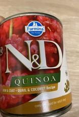 Farmina N&D Quinoa Skin & Coat - Quail + Coconut 10oz Can