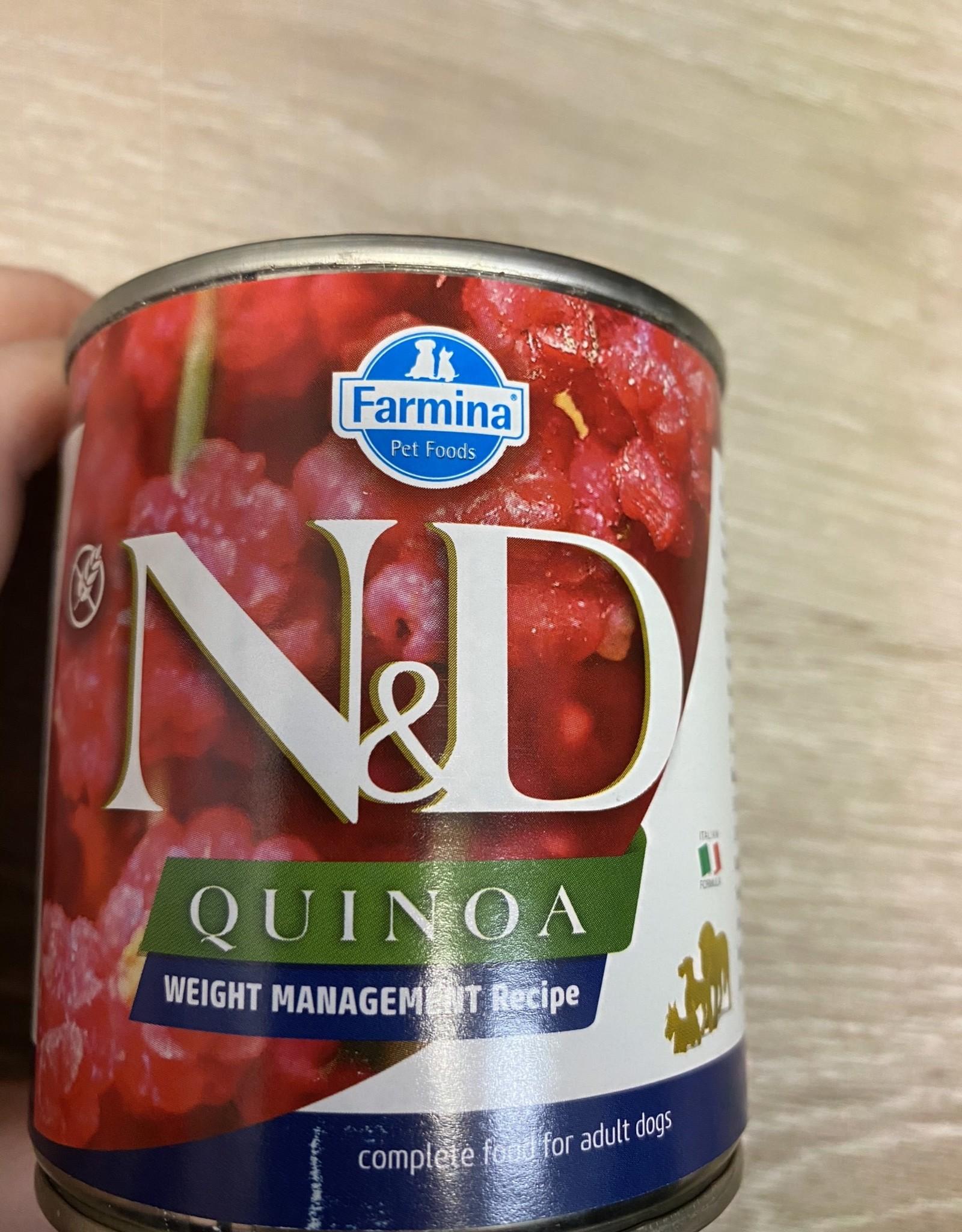 Farmina N&D Quinoa Weight Management 10oz Can