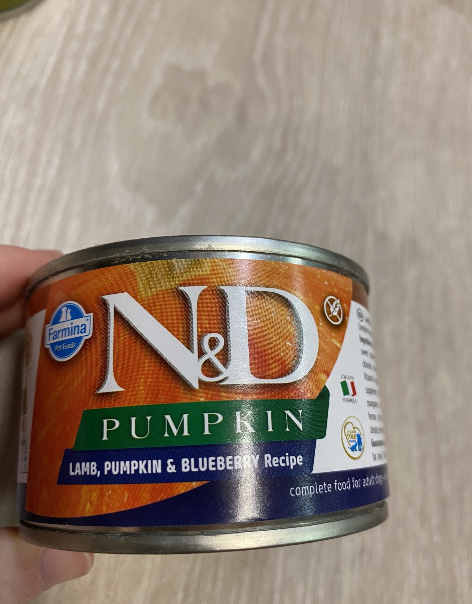 Farmina N&D Pumpkin-  Lamb, Pumpkin, & Blueberry 4.9oz Can