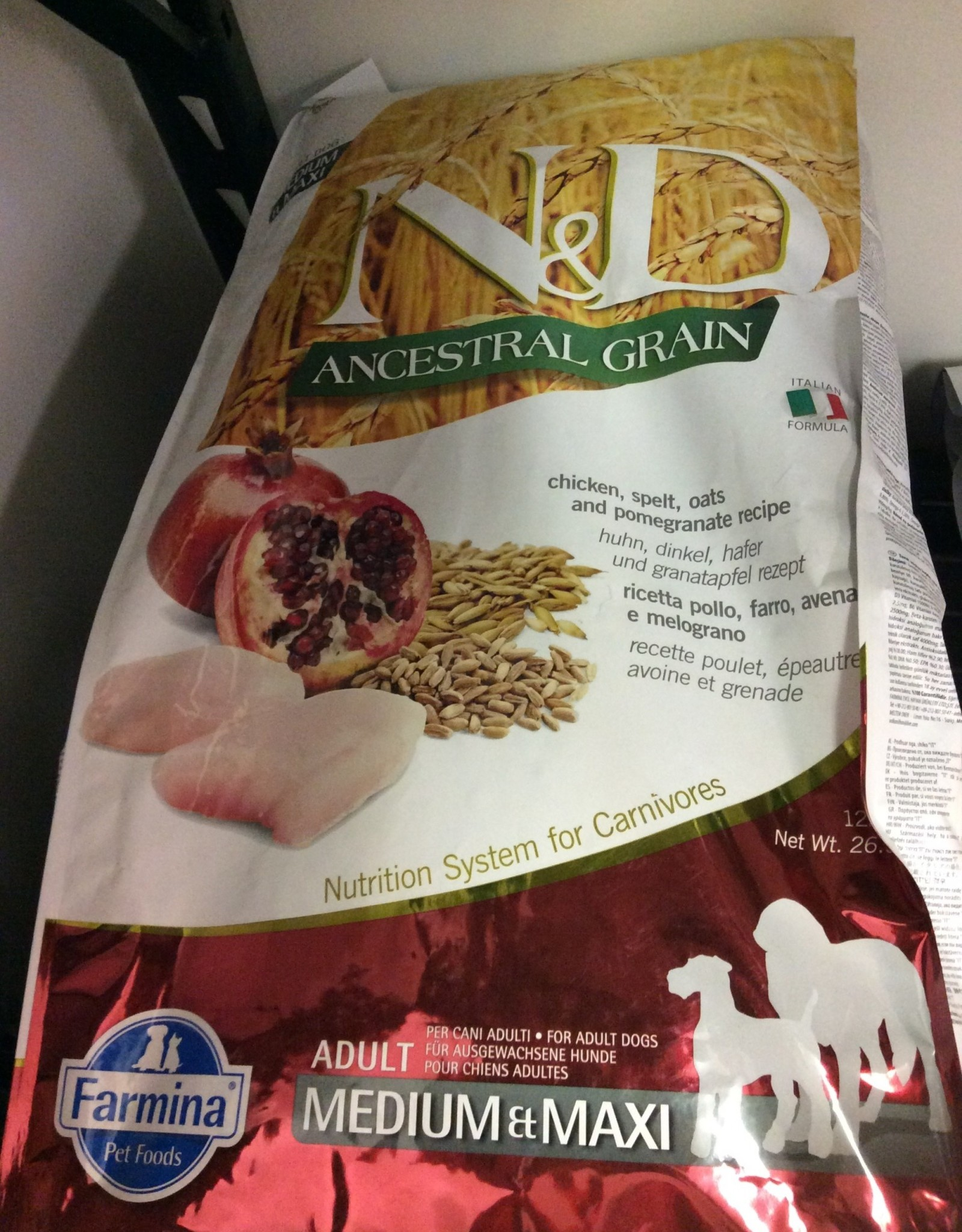 Farmina AG Chicken Pomegranate Adult Medium Maxi 26.5lb