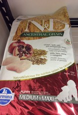 Farmina Dog Dry Food - Ancestrial Grain 26.5LB Chicken Pomegranate Puppy Medium Maxi