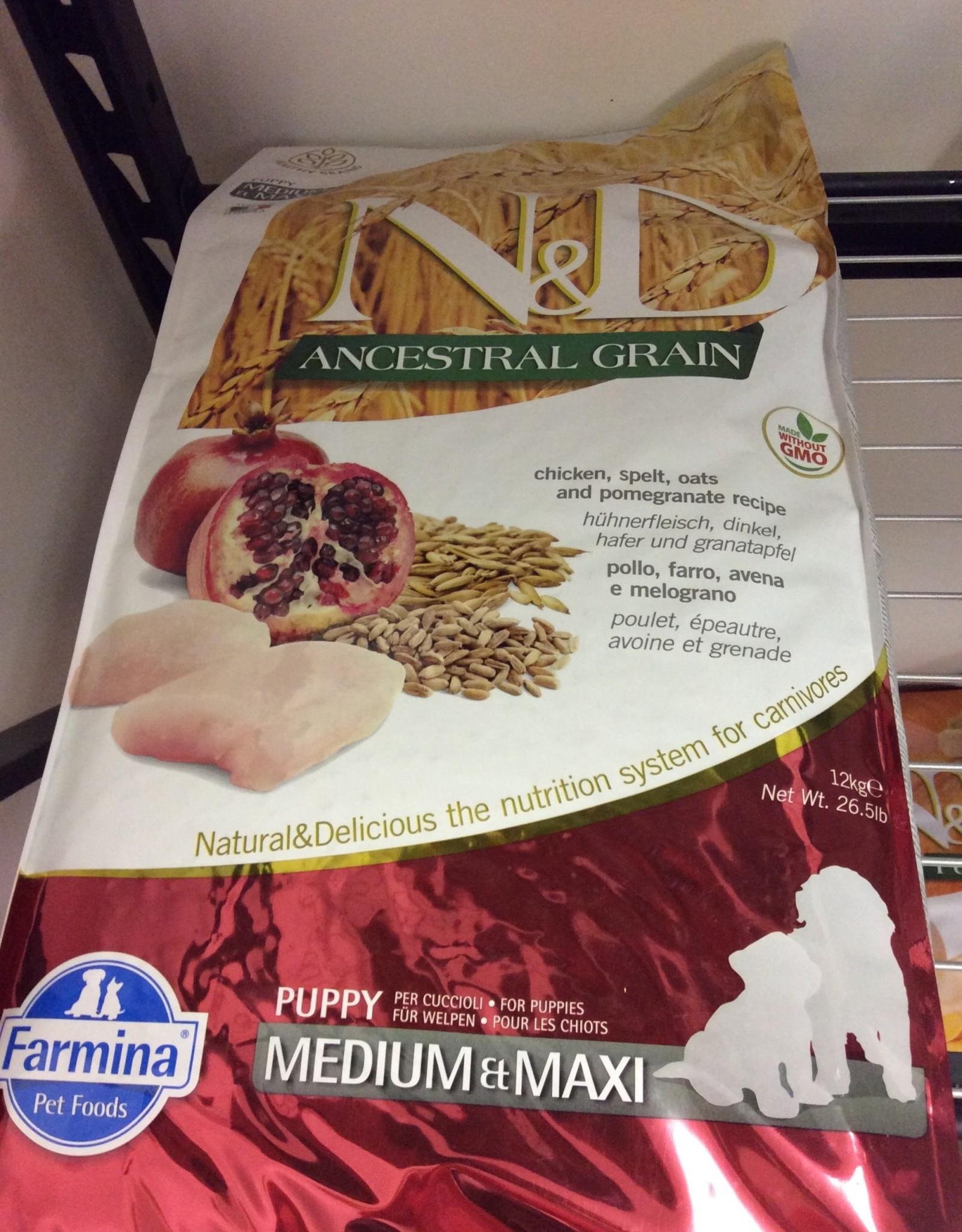 Farmina AG Chicken Pomegranate Puppy Medium Maxi 26.5lb