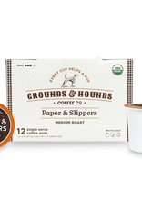 Grounds & Hounds Coffee K-Cups Paper & Slippers