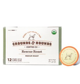 Grounds & Hounds Coffee K-Cups Rescue Roast