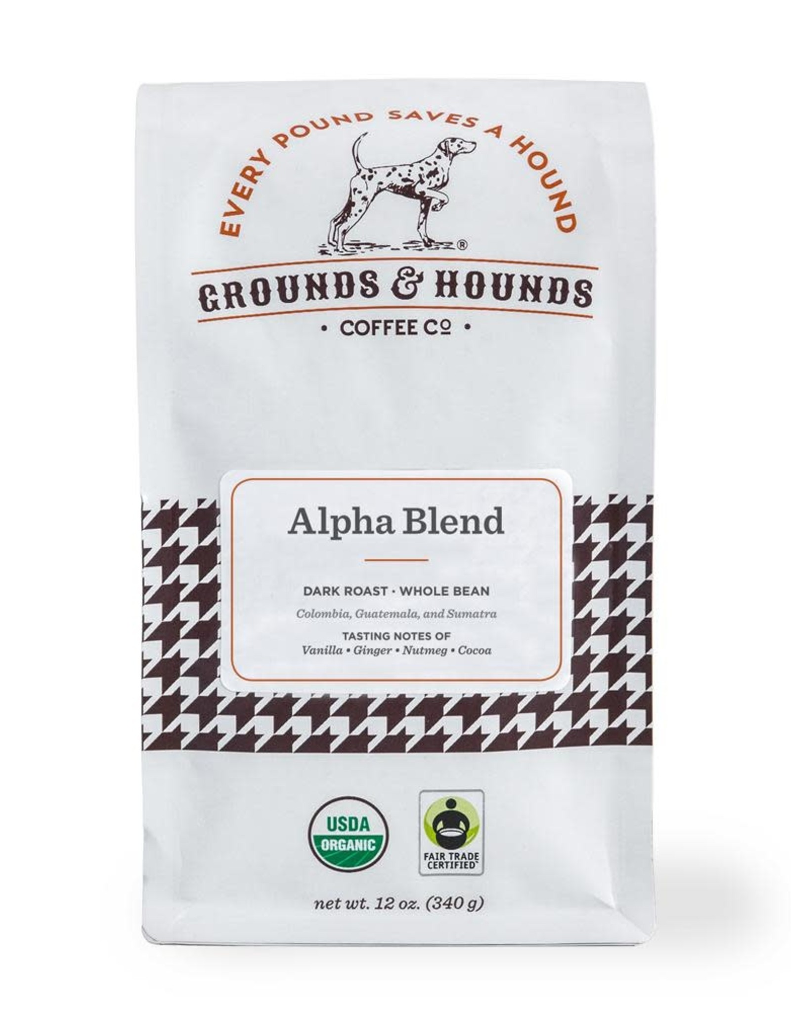Grounds & Hounds Ground Coffee Alpha Blend