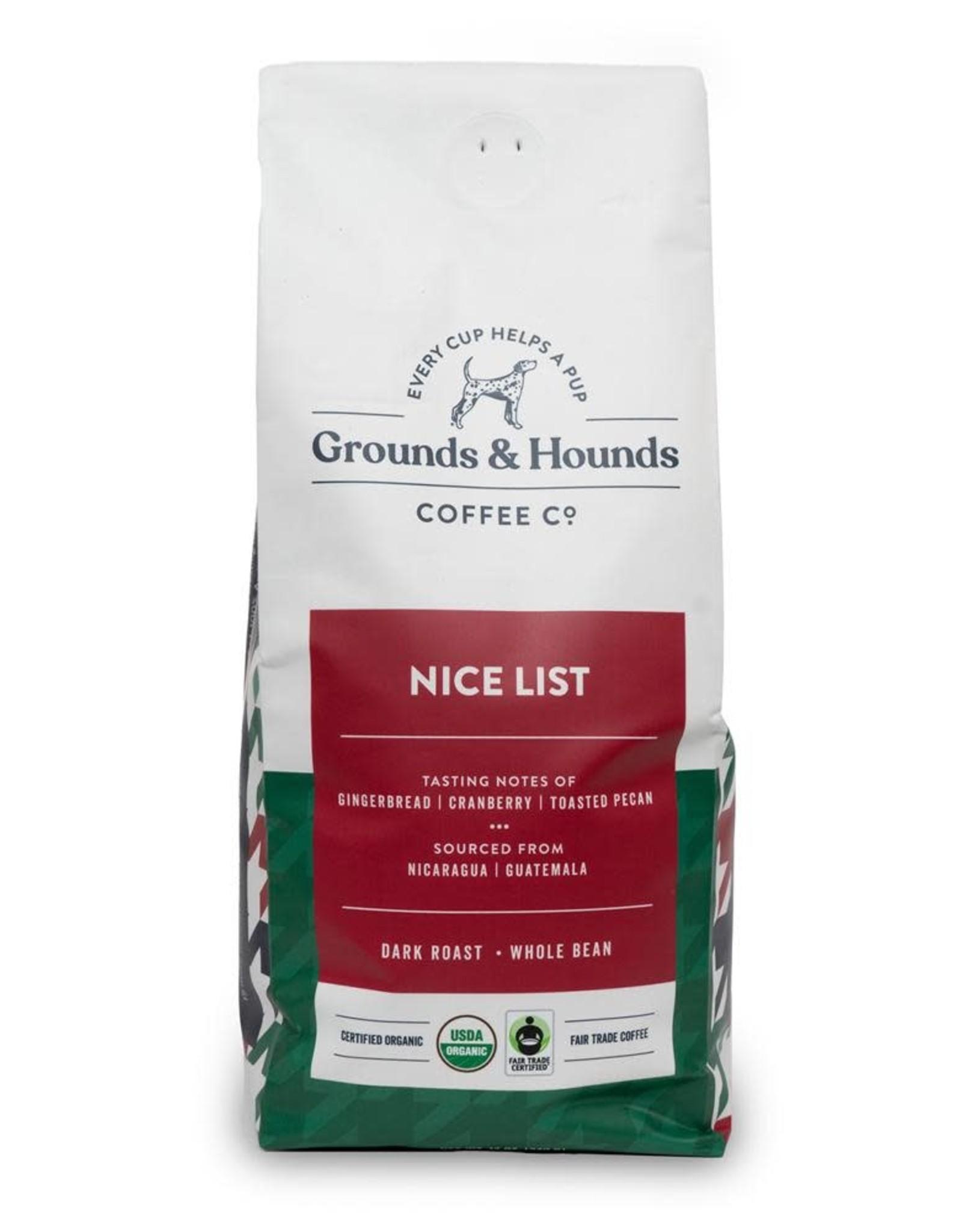 Grounds & Hounds Whole Bean Coffee Nice List