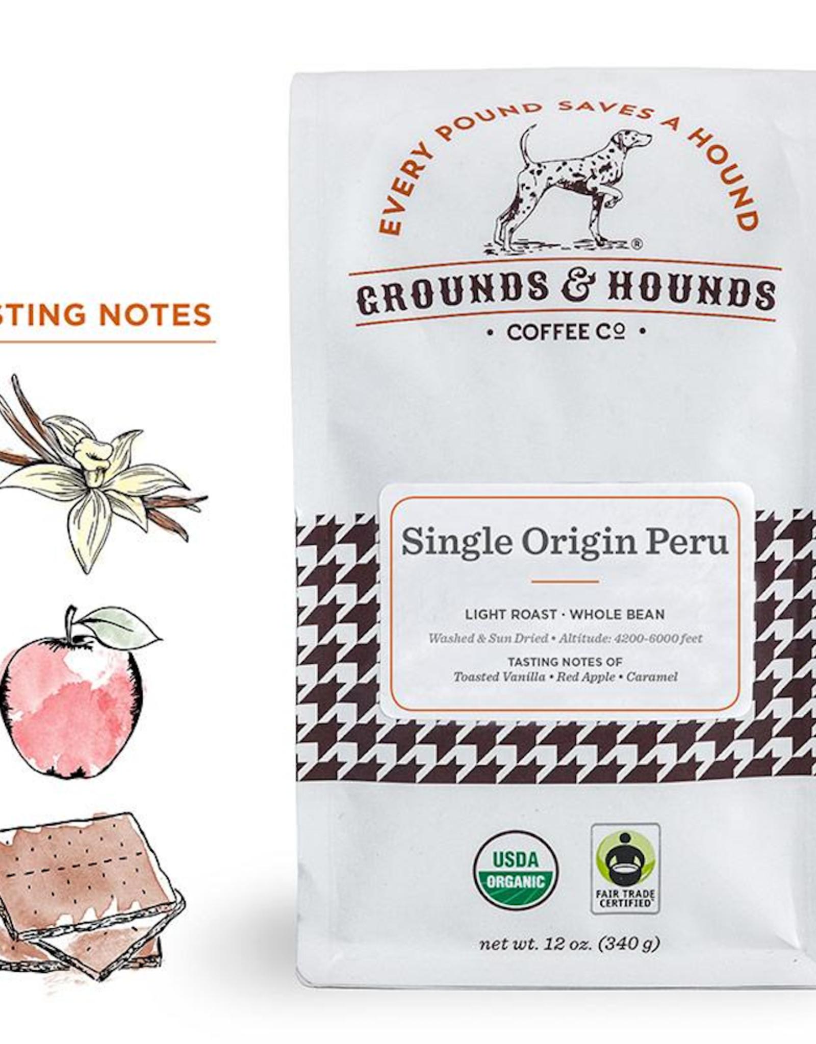 Grounds & Hounds Whole Bean Coffee Peru