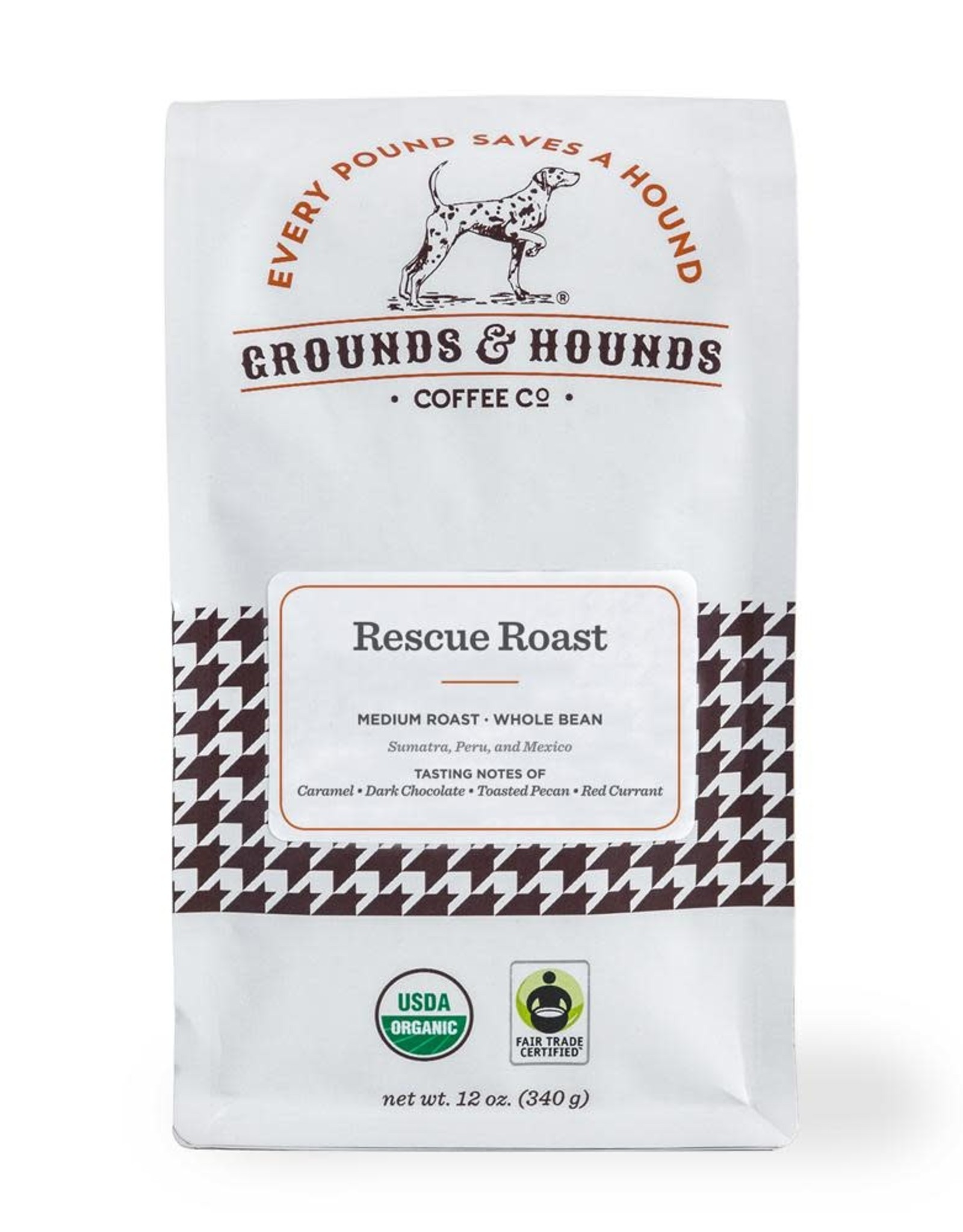 Grounds & Hounds Whole Bean Coffee Rescue Roast