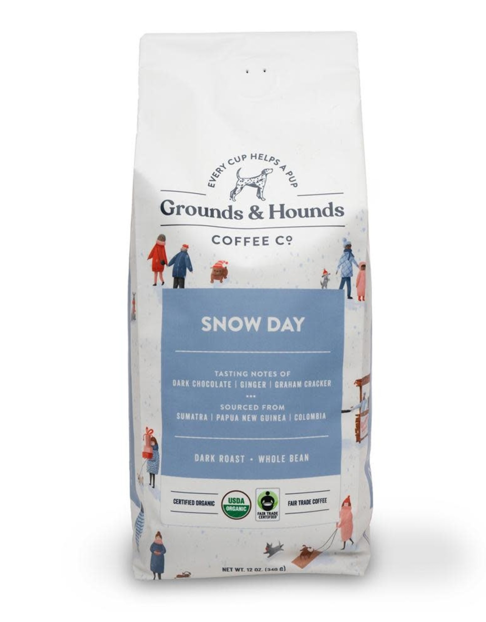 Grounds & Hounds Whole Bean Coffee Snow Day