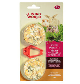 Living World Herbs and Hay 2pk Wheel 2.4oz