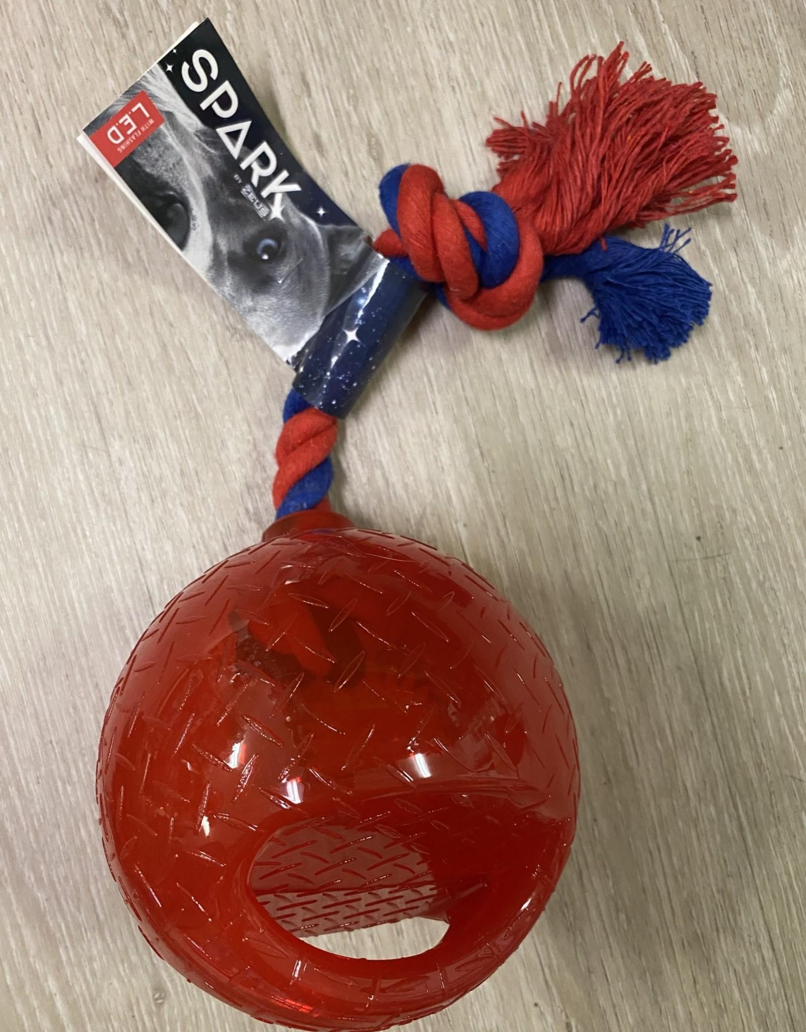 Zeus Spark Tug Ball- Small Red