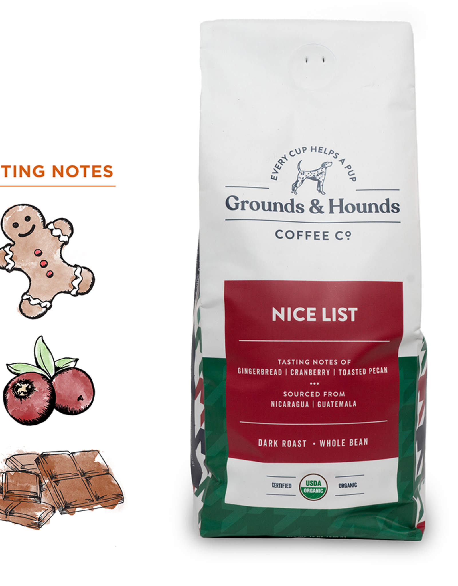 Grounds & Hounds Ground Coffee Nice List