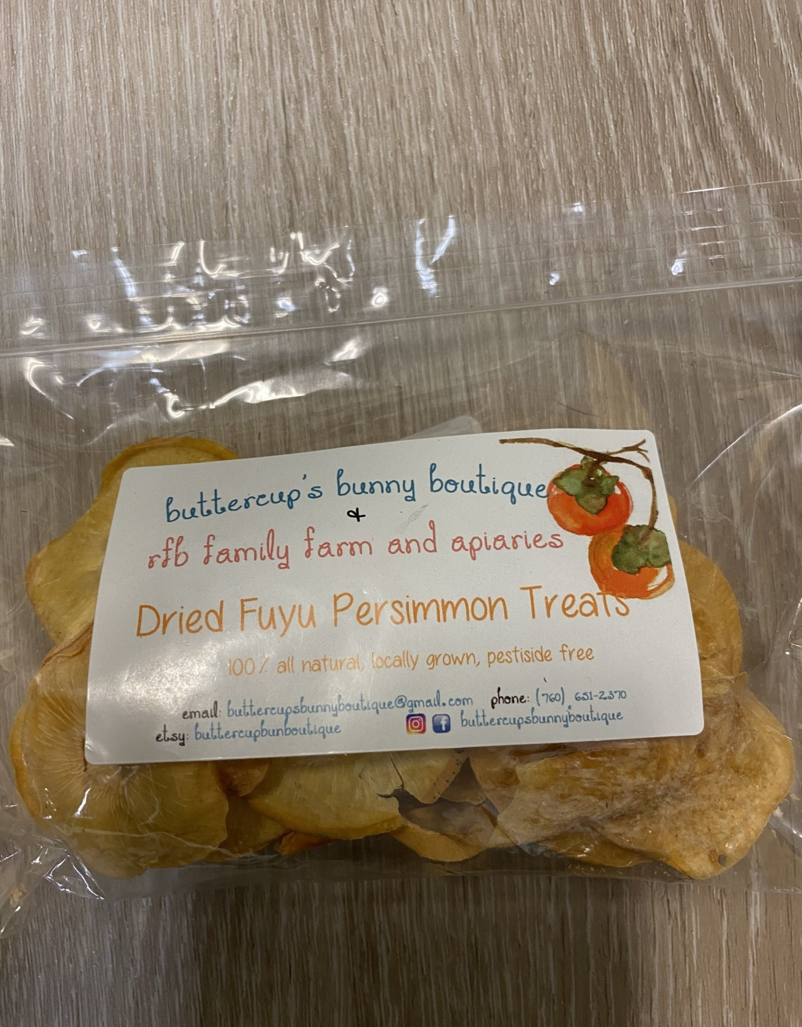 Buttercups Bunny Boutique Dried Persimmon Treats 1oz