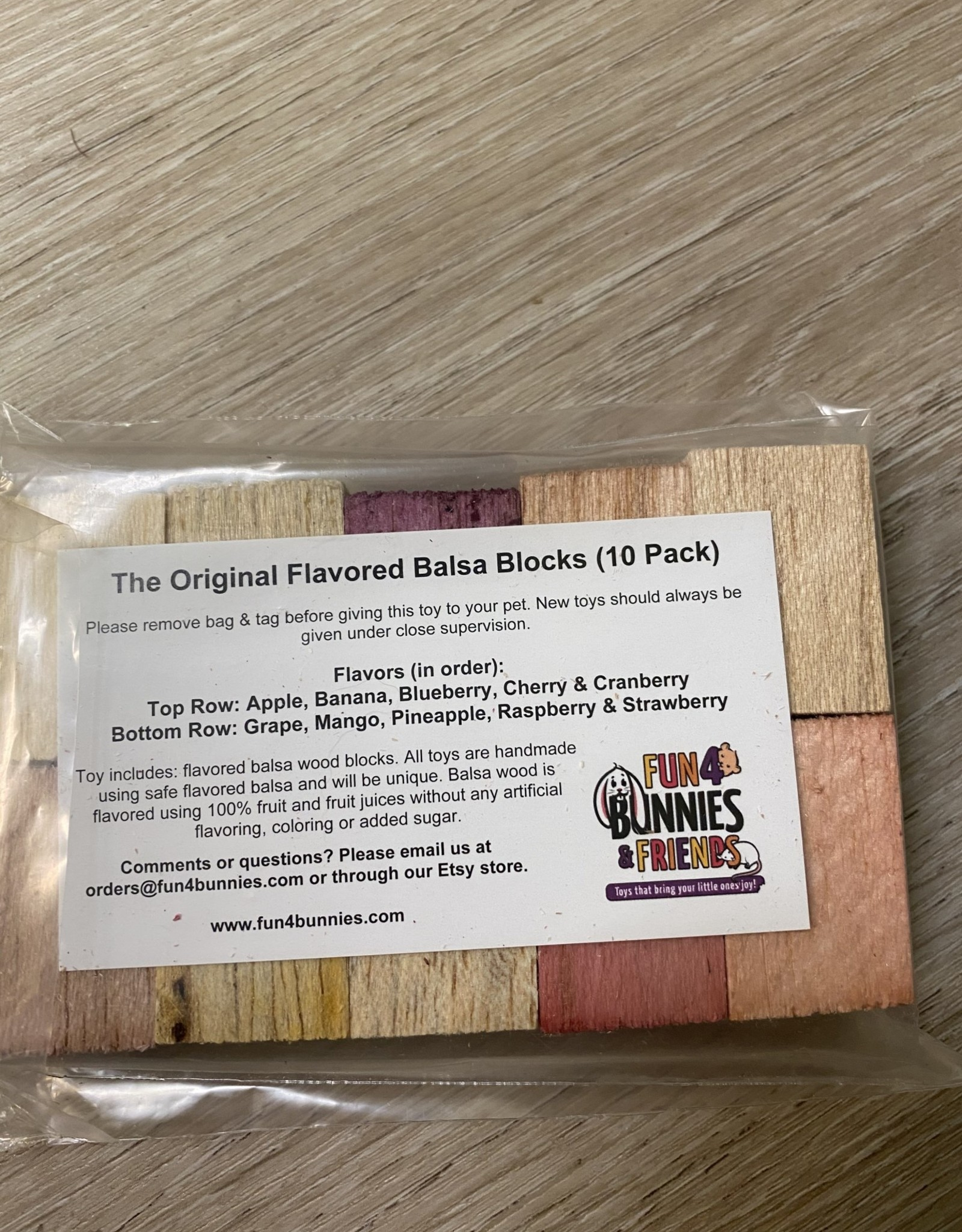 The Original Flavored Balsa Blocks (10pk)
