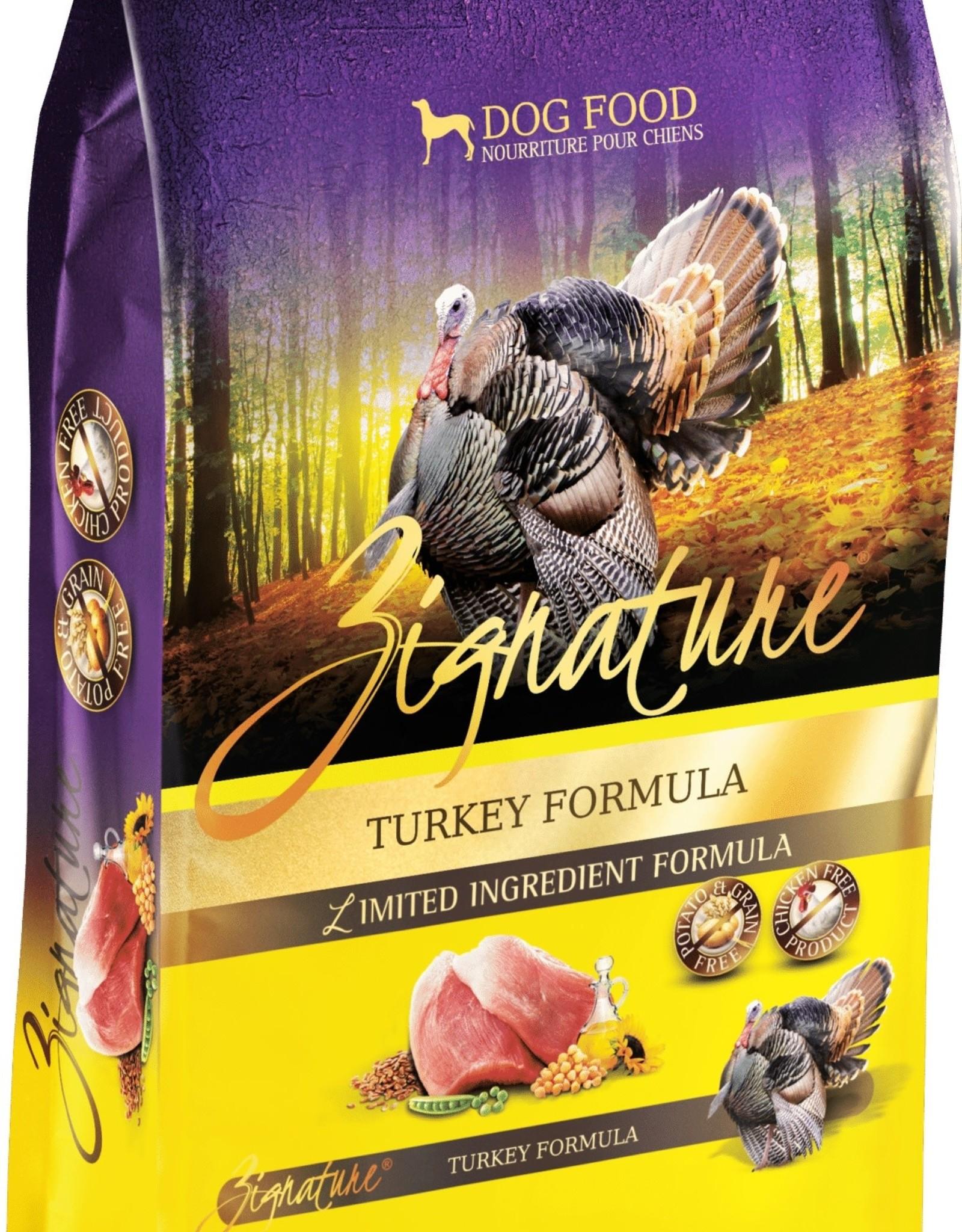 Zignature Turkey Dog Food 25 lbs