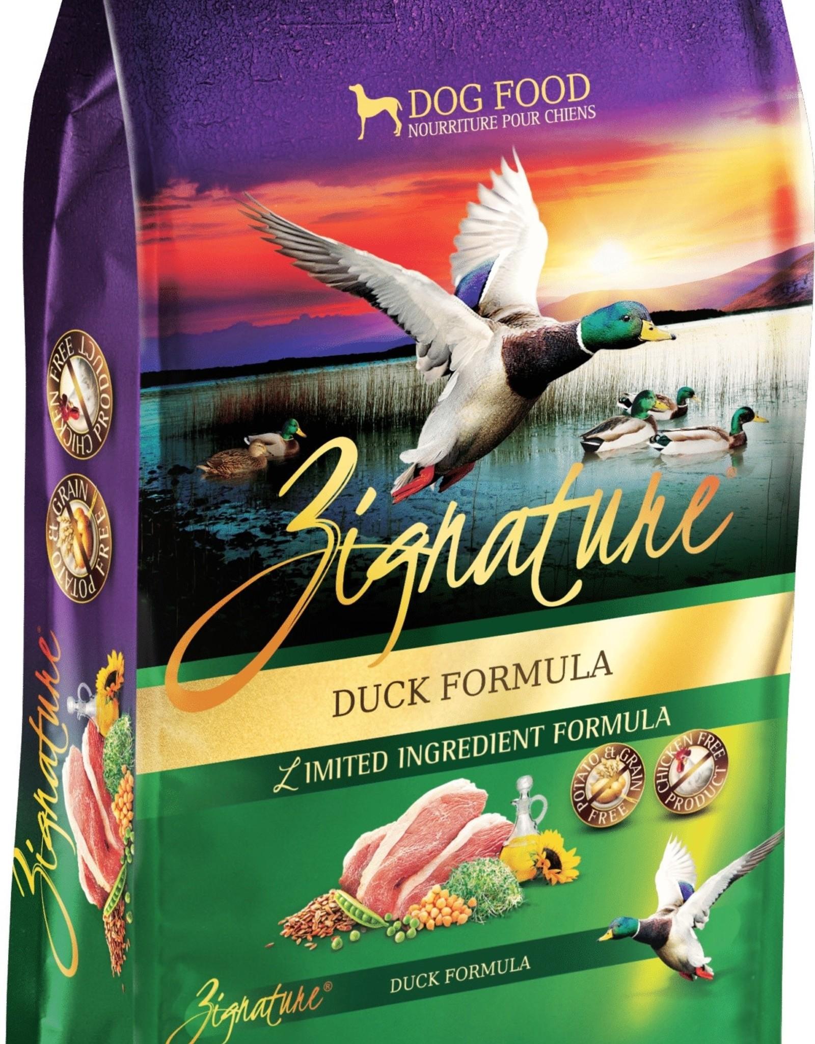 Zignature Duck Dog Food 12.5lb