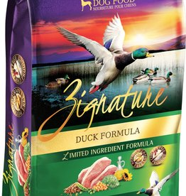 Zignature Duck Dog Food 25lb