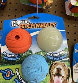 Chuck It Fetch Medley Ball 3pk M