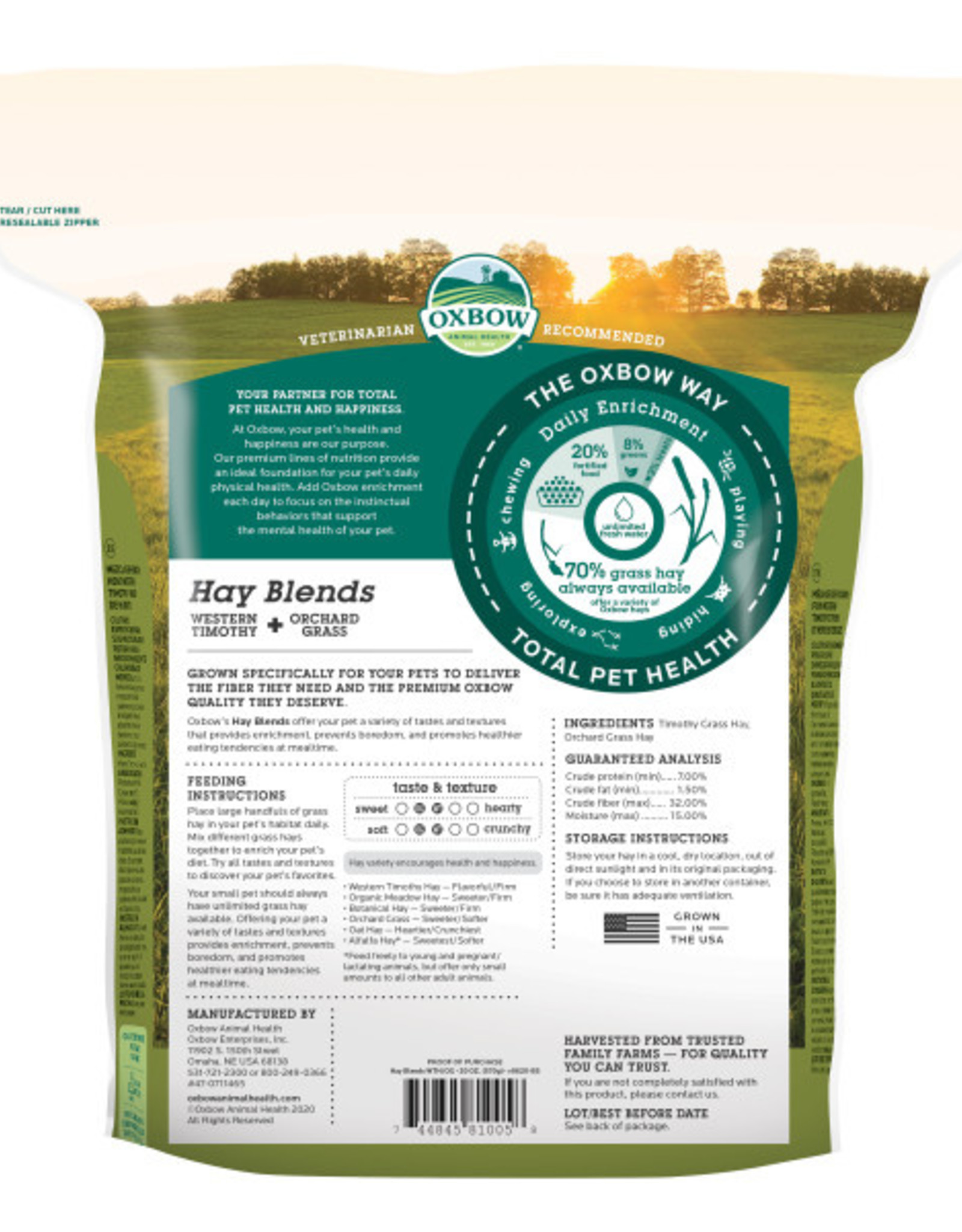 Oxbow Timothy & Orchard Grass Hay Blend 20 oz