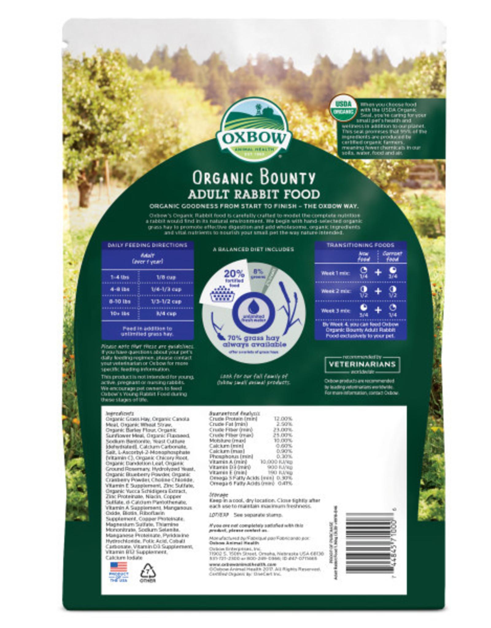 Oxbow 3lb Organic Bounty Rabbit Food