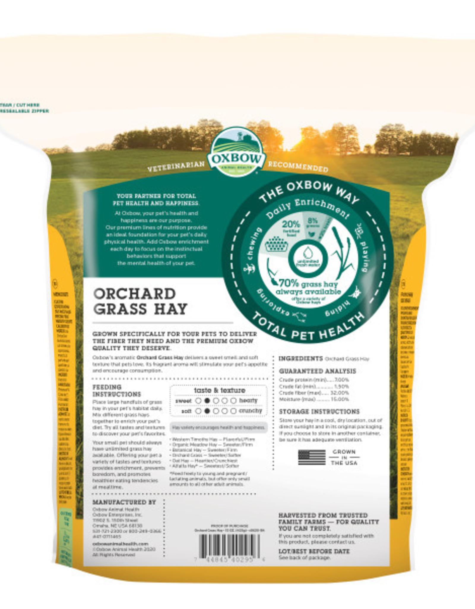 Oxbow Orchard Grass Hay 15 oz