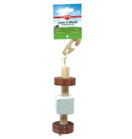 Kaytee Natural Lava & Wood Hanging Toy