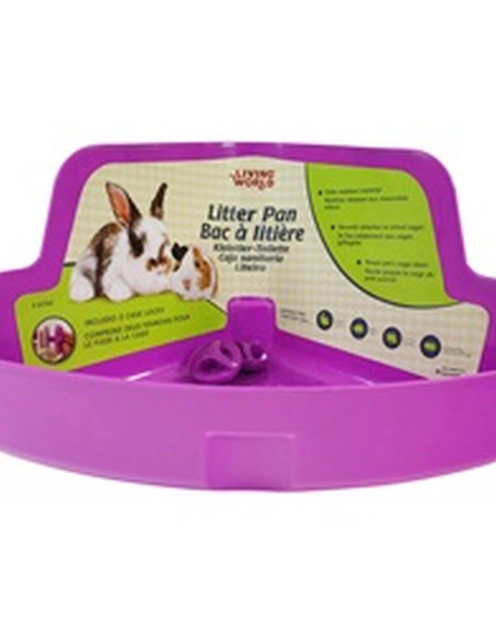 Living World Small Animal Litter Box -Purple