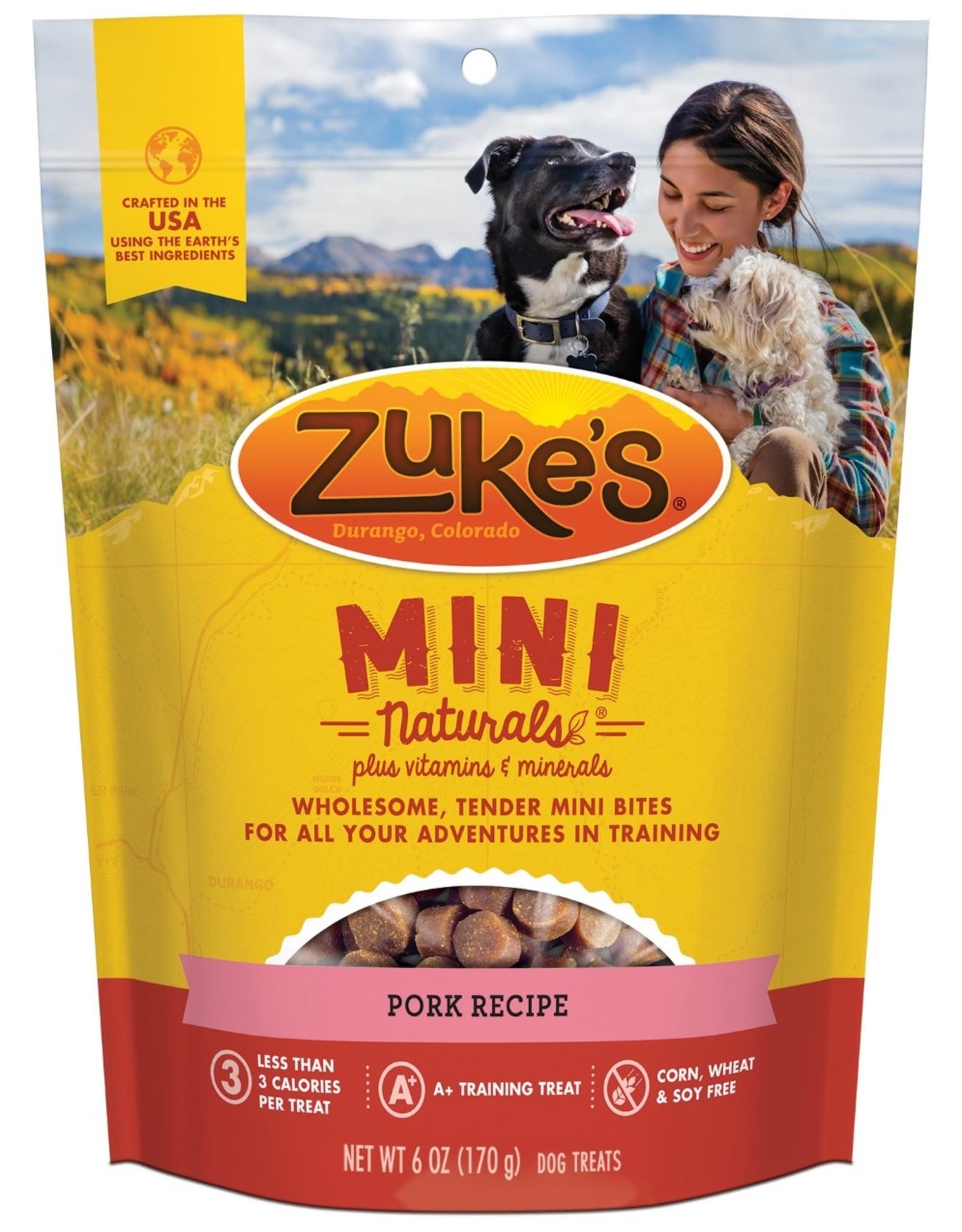 Zukes Mini Naturals Pork Treats 6oz
