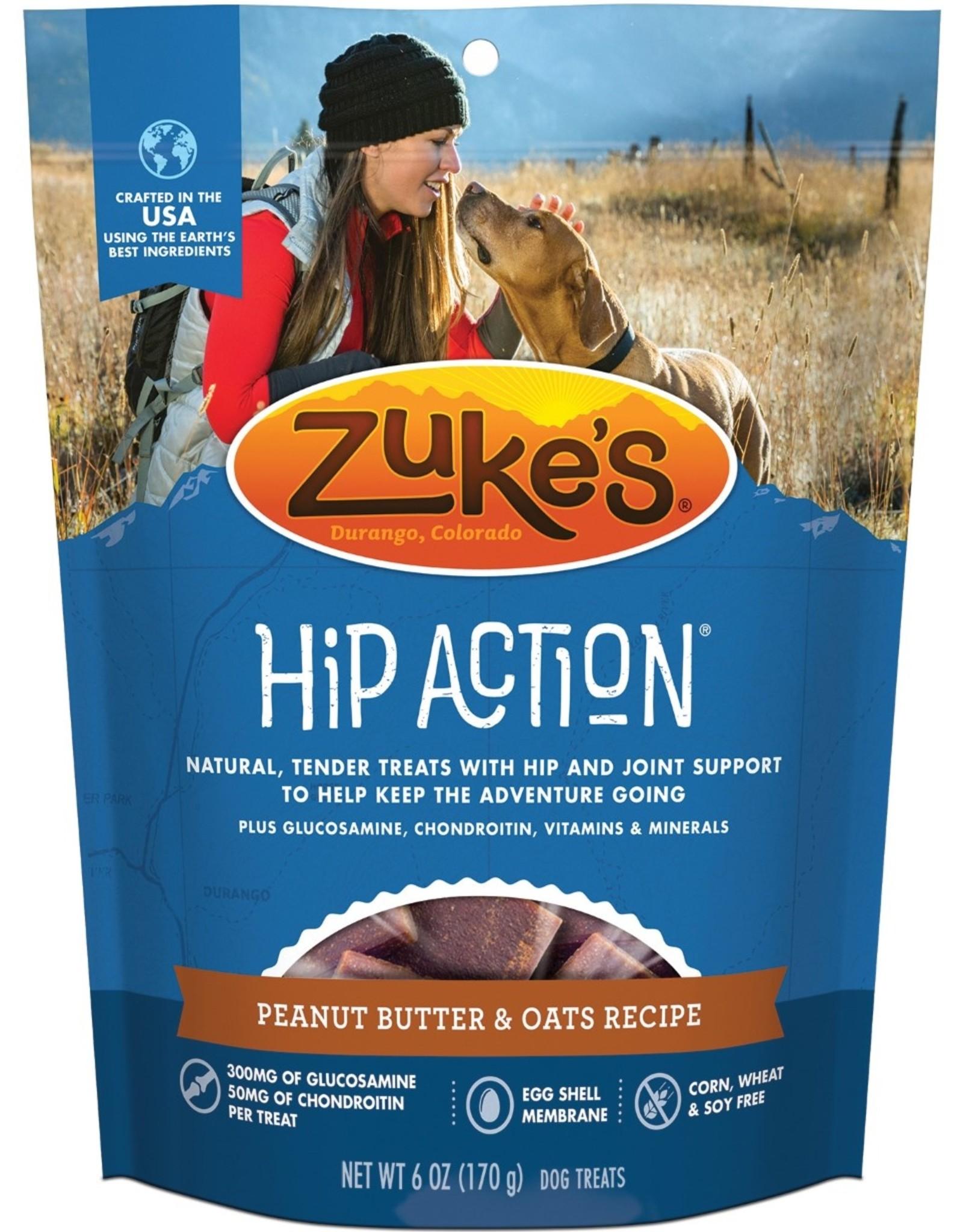 Zukes Hip Action PB & Oats Treats 6oz