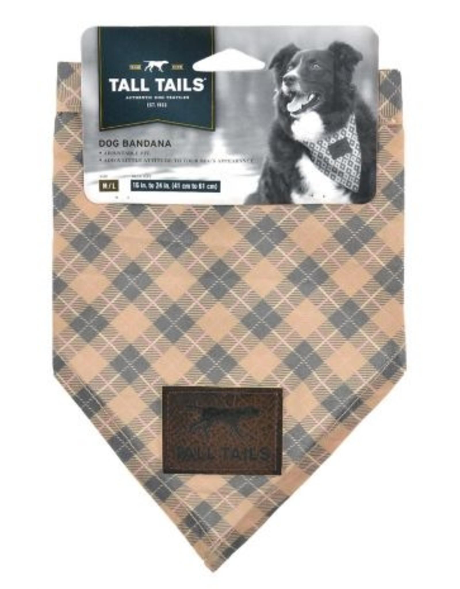 Tall Tails Bandana Tan Medium/Large