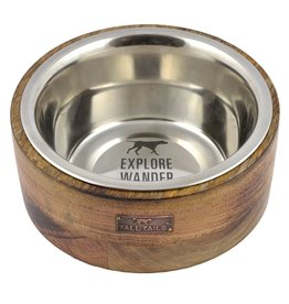 Tall Tails Wood Designer Dog Bowl (1Cup)