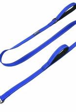 Max & Neo Double Handle Leash-  Blue 6ft