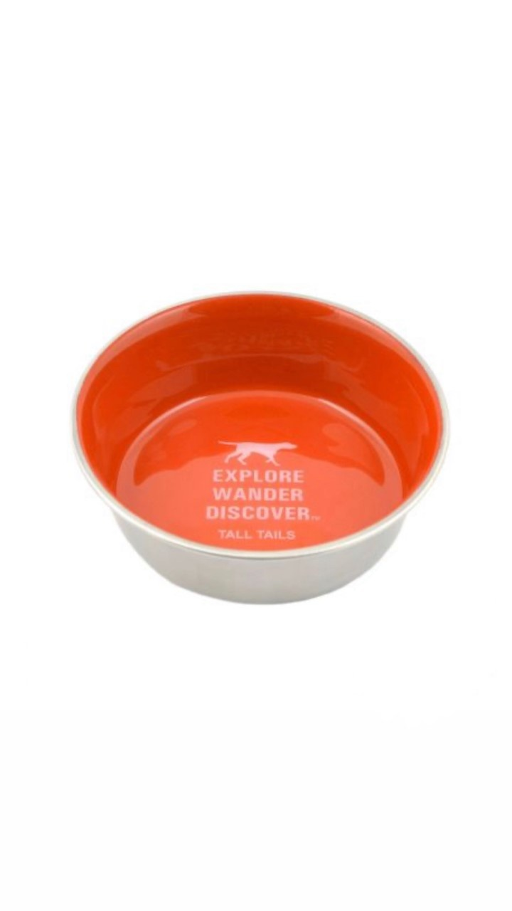tallish orange rainbow offering bowl
