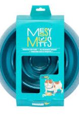 Messy Mutts Slow Feeder Bowl- Blue 3 cup