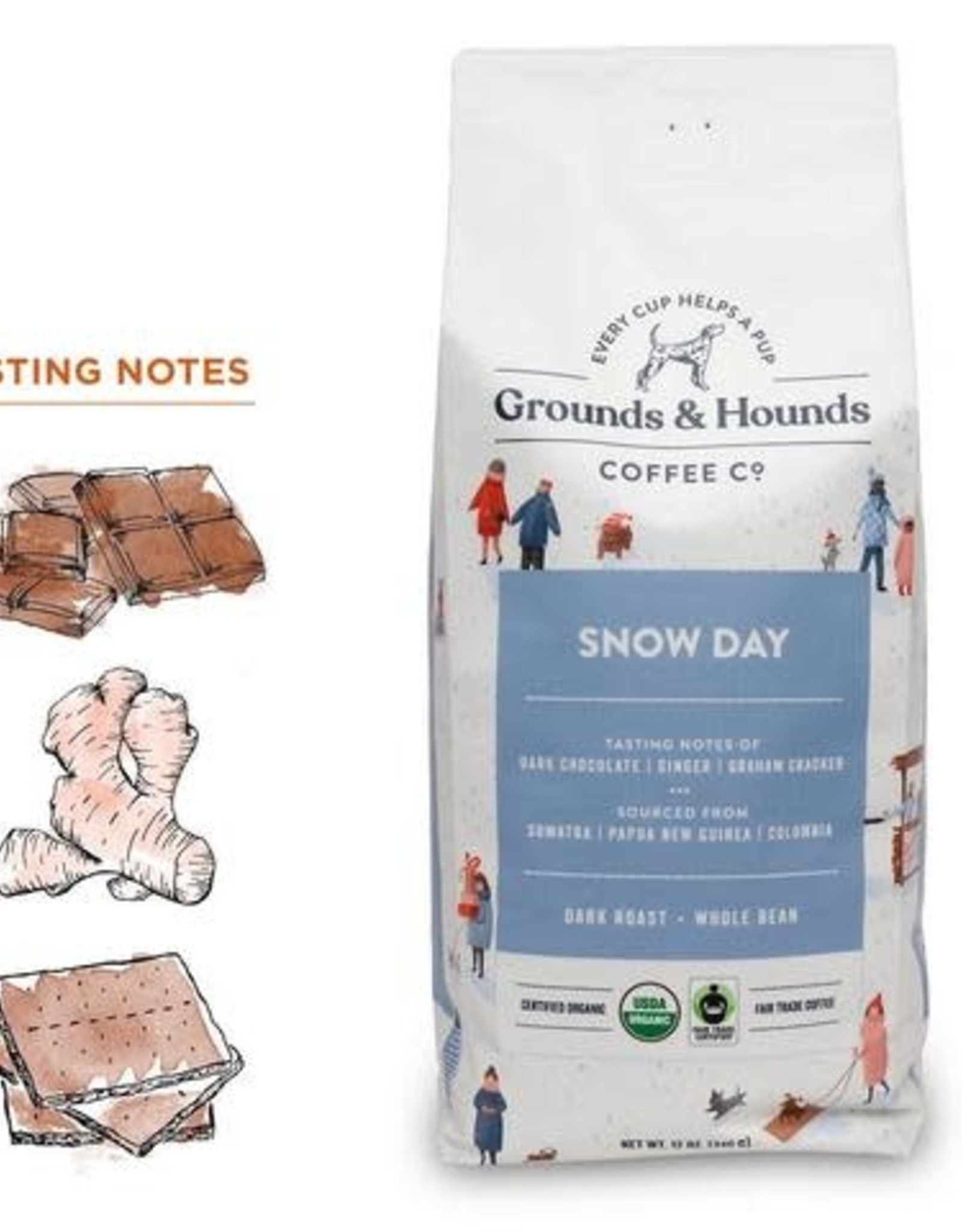 Grounds & Hounds Ground Coffee Snow Day