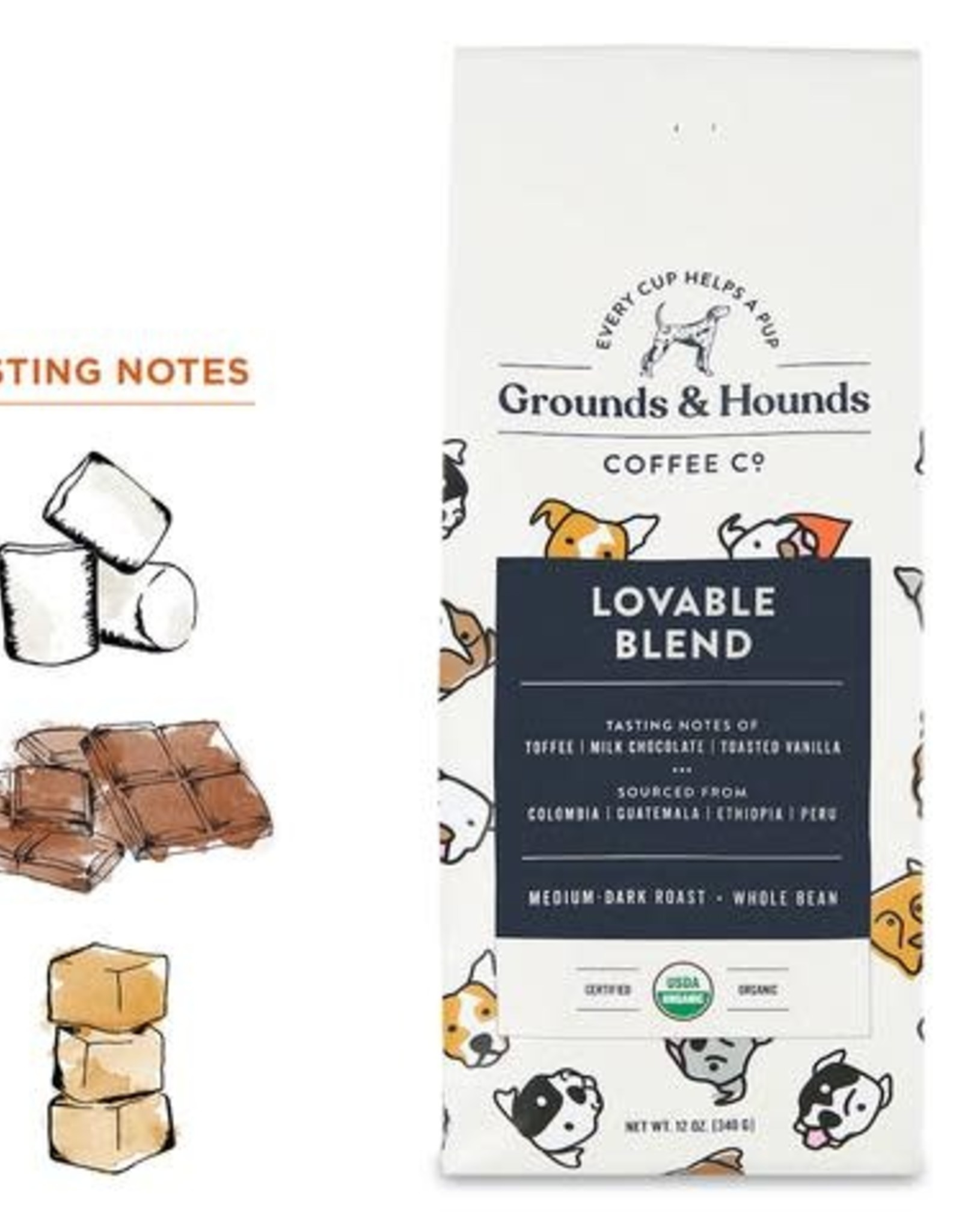 Grounds & Hounds Loveable Blend - Whole Bean