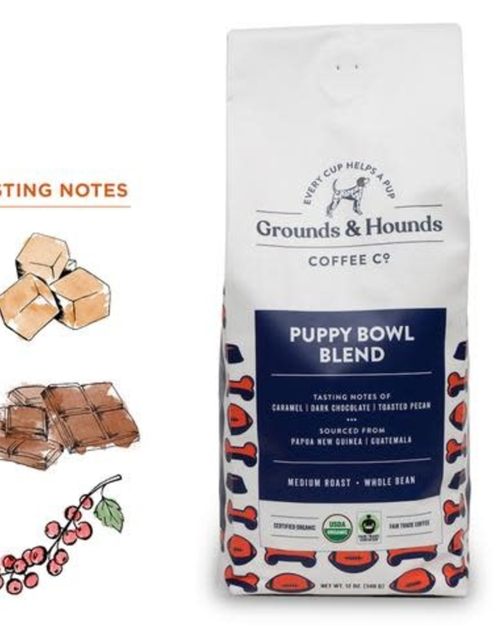 Grounds & Hounds Whole Bean Coffee Puppy Bowl