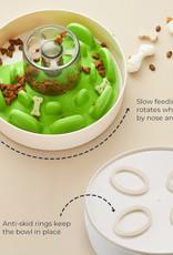 Pet Dream House SPIN Interactive Feeder- UFO Maze- Green